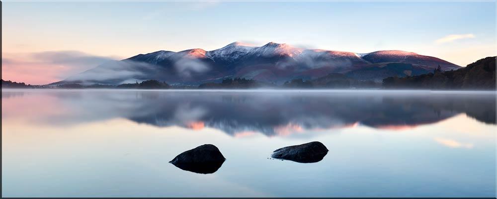 New Day Dawns Over Derwent Water - Canvas Print