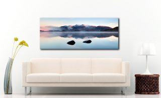New Day Dawns Over Derwent Water - Canvas Print on Wall