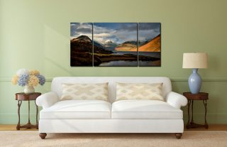 Glorious Lake District - 3 Panel Wide Centre Canvas on Wall