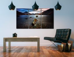 Wast Water Smooth - 3 Panel Canvas on Wall