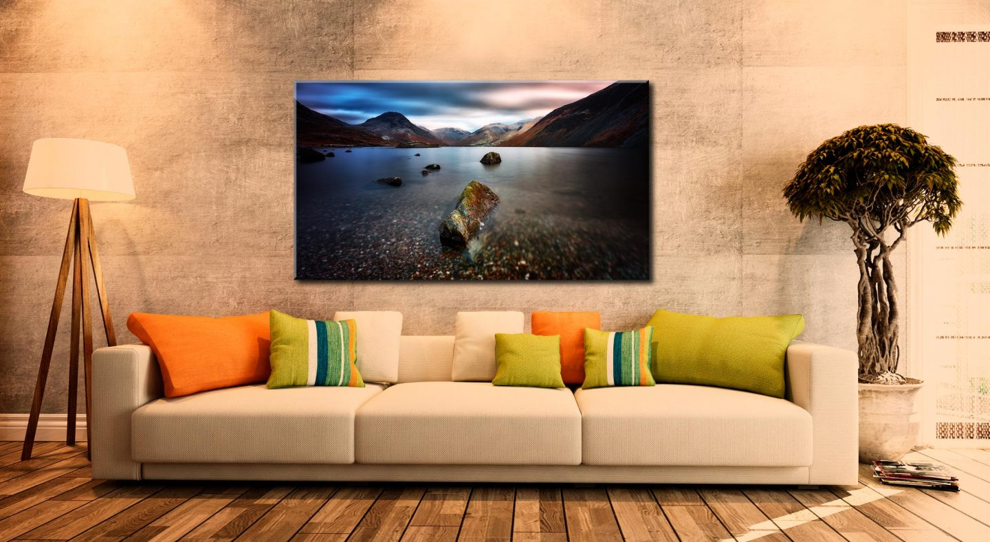 Wast Water Smooth - Canvas Print on Wall