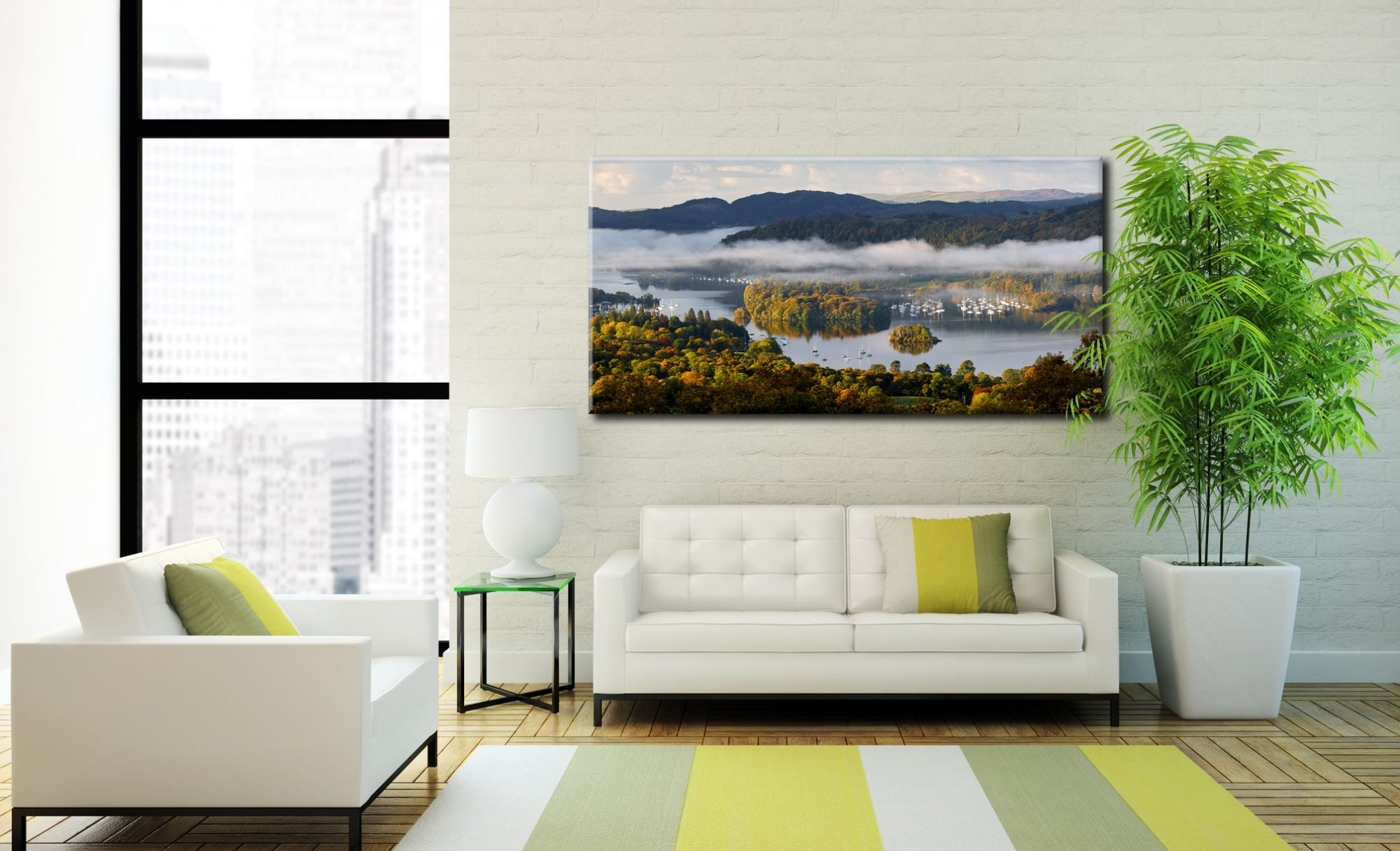 Windermere Morning Mists - Canvas Print on Wall