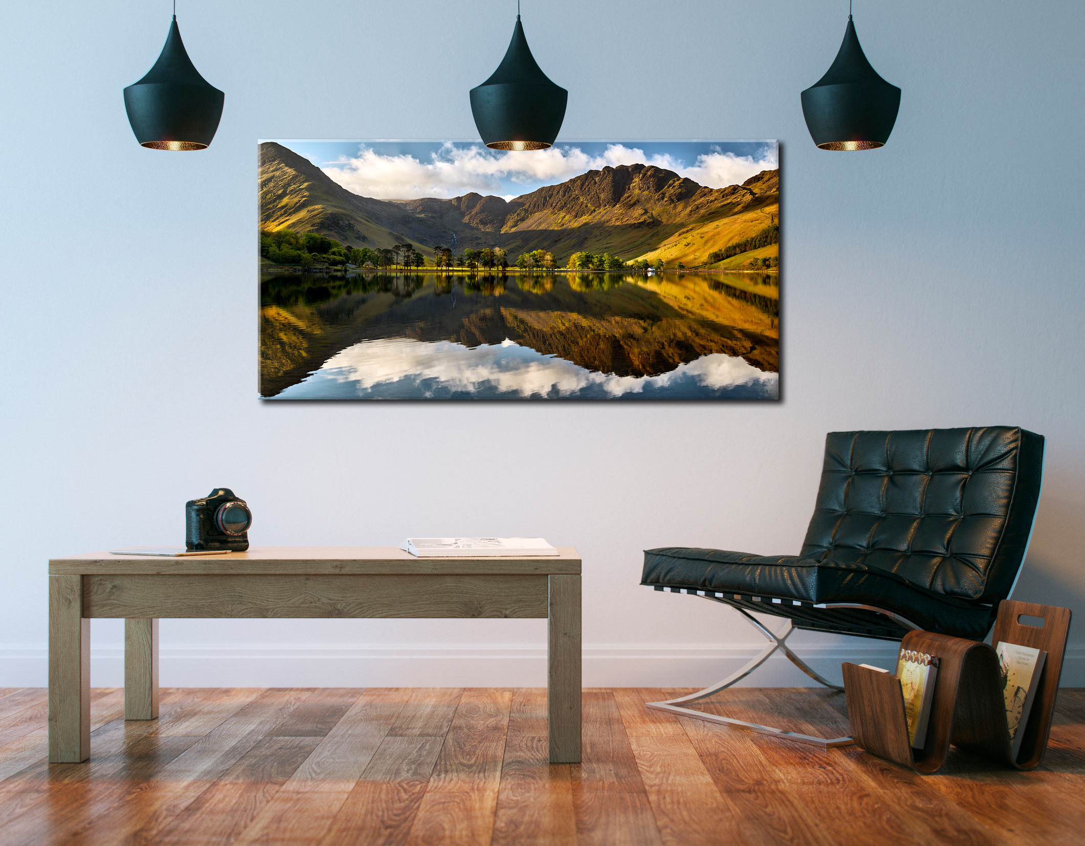 First Light on the Buttermere Pines - Canvas Print on Wall