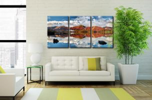 Catbells in Autumn - 3 Panel Canvas on Wall