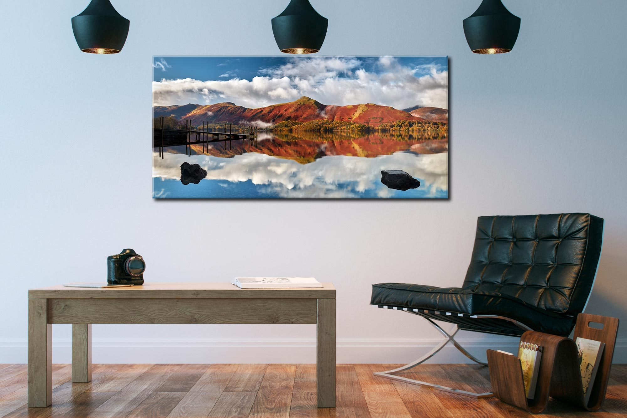 Catbells in Autumn - Canvas Print on Wall