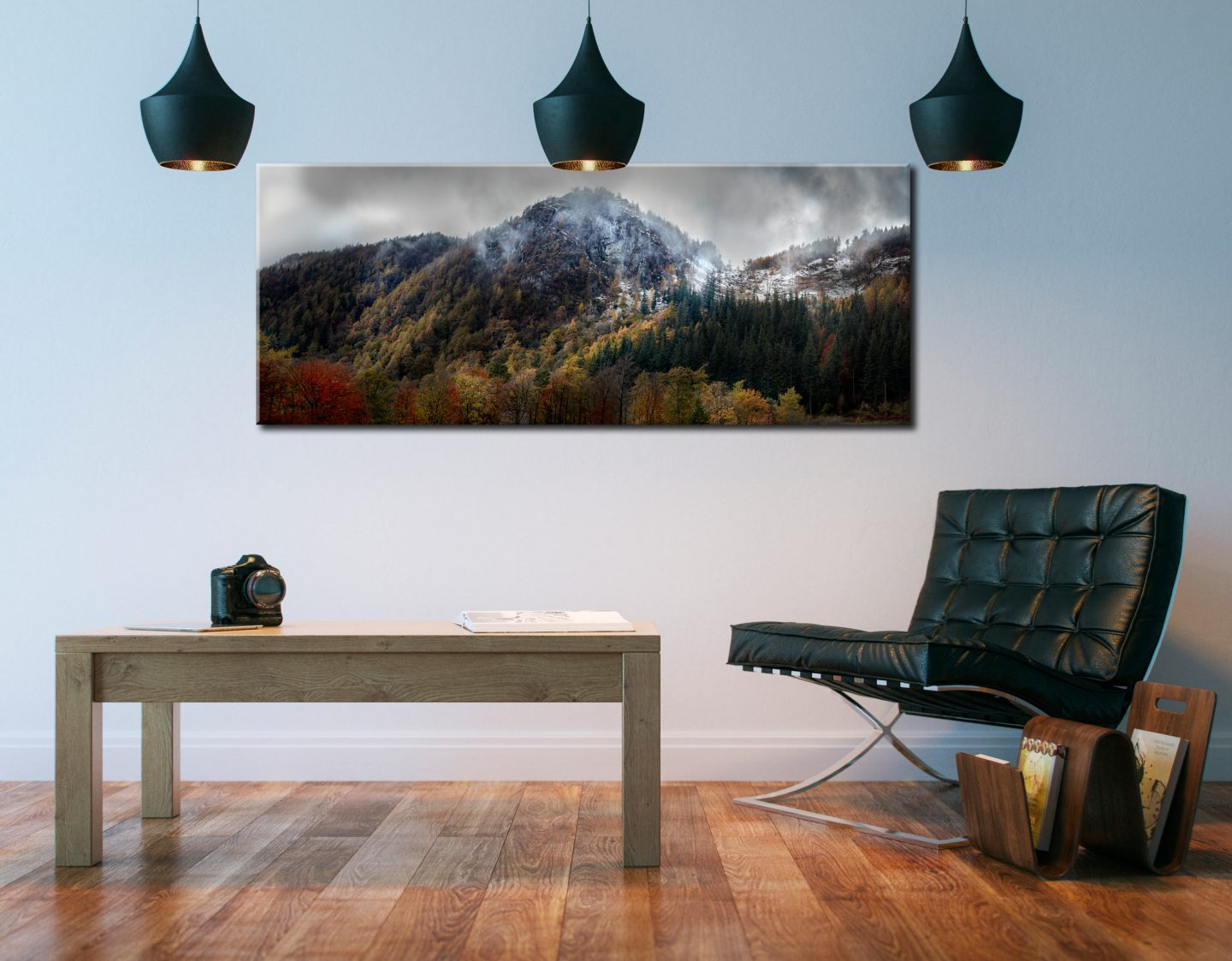 Raven Crag Emerging From Mists - Canvas Print on Wall
