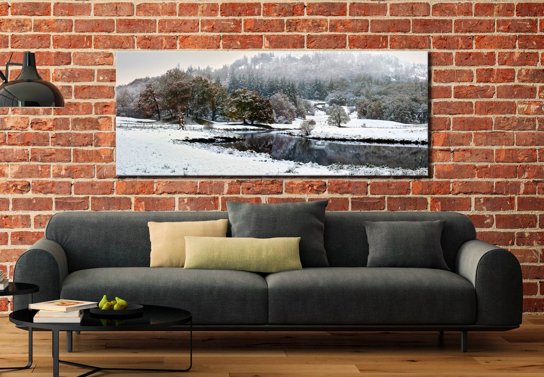 River Brathay Winter Wonderland - Canvas Print on Wall