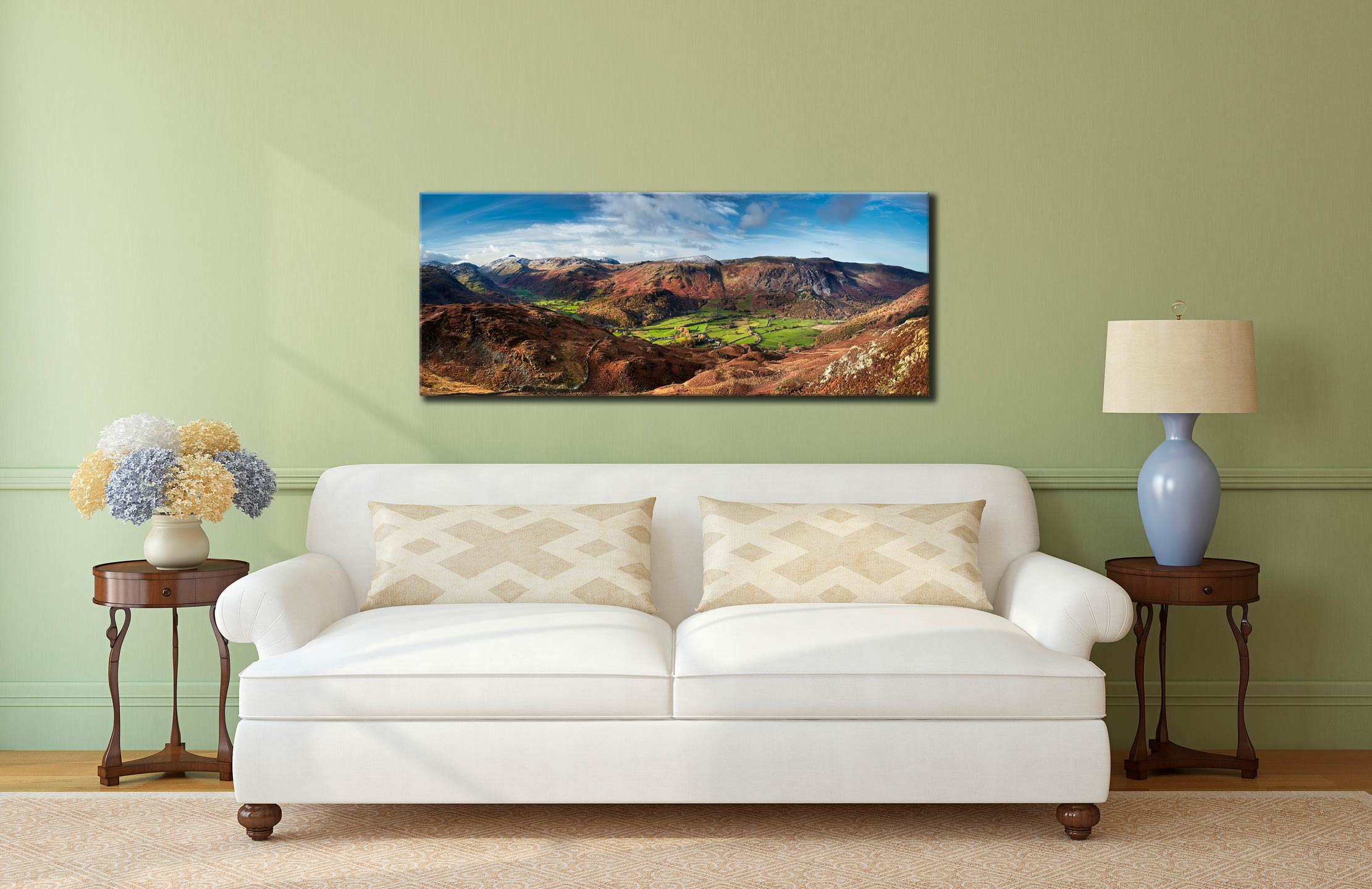The Green Fields of Borrowdale - Canvas Print on Wall
