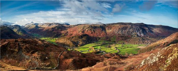The Green Fields of Borrowdale - Lake District Print
