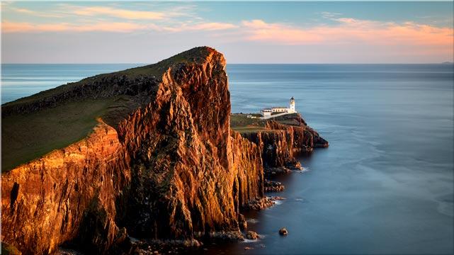 Golden Cliffs Neist Point Lighthouse