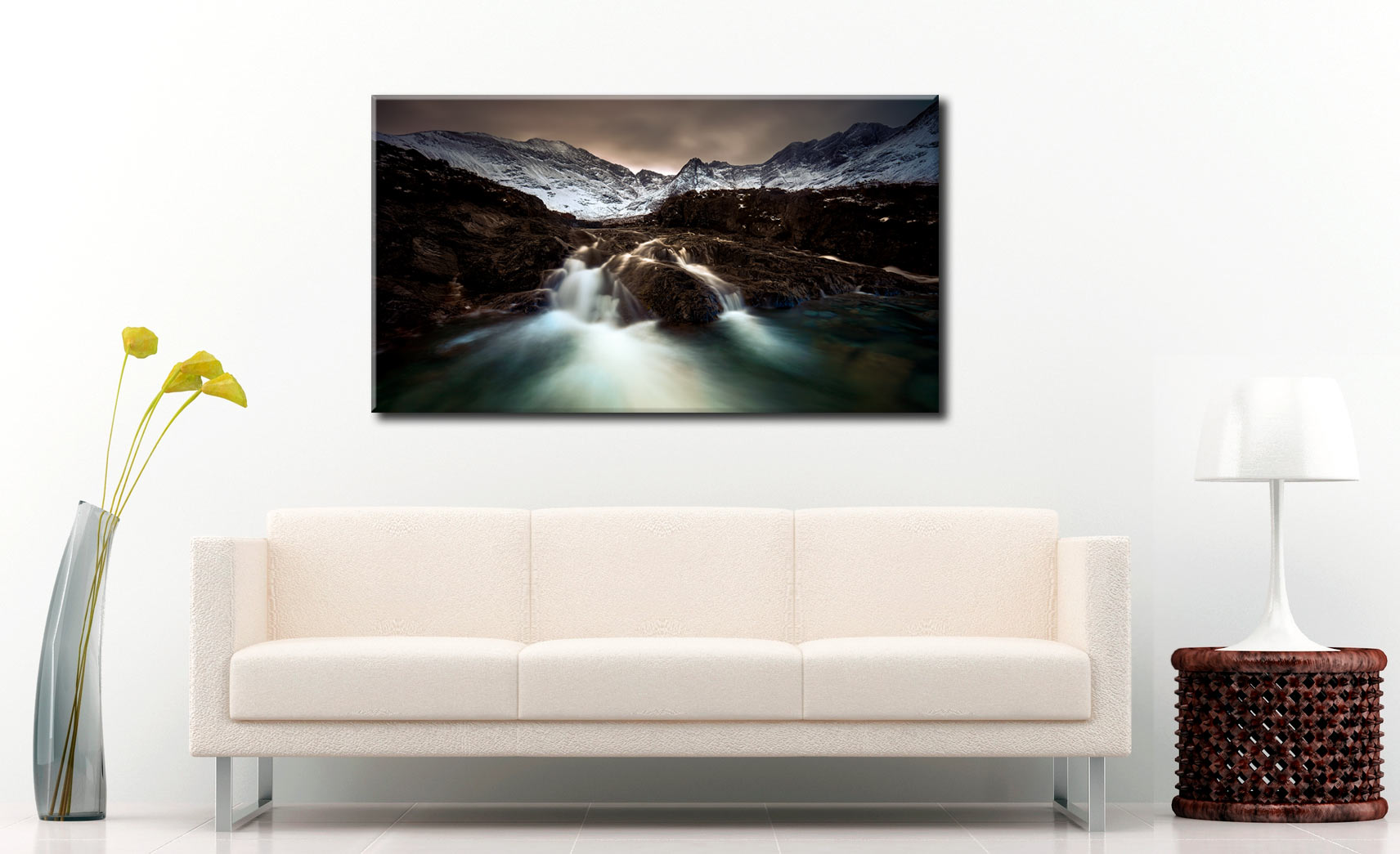 The Dark Fairy Pools - Canvas Print on Wall