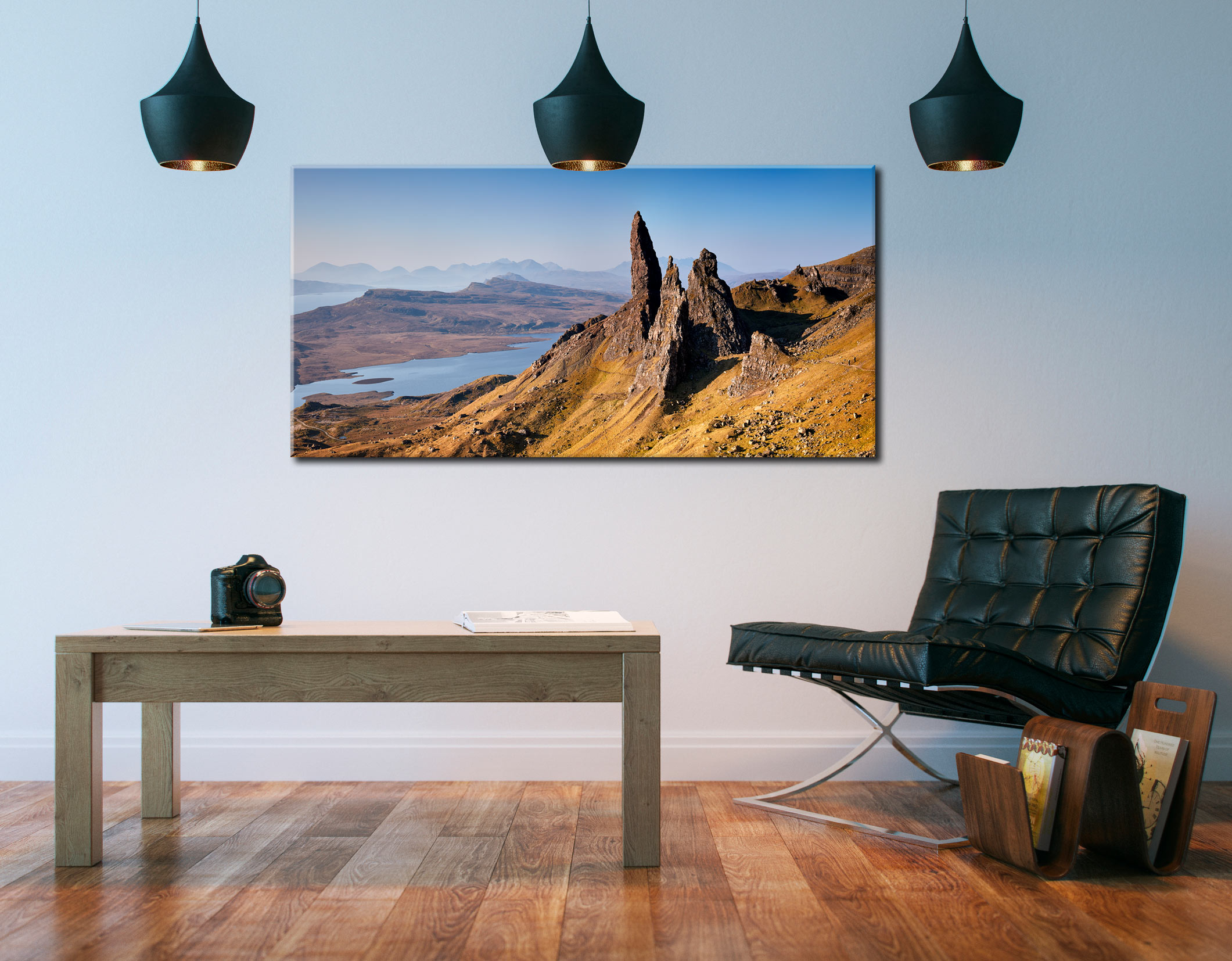 Old Man of Storr Panorama - Canvas Print on Wall
