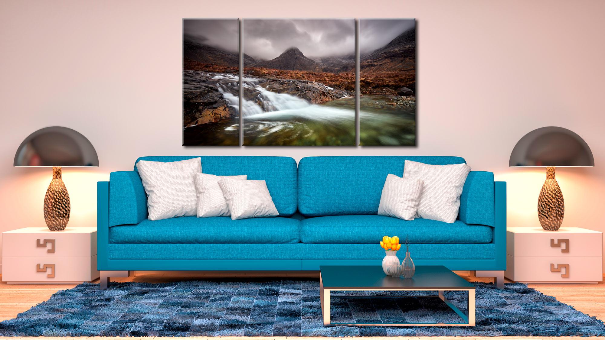 Fairy Pools Swirl - 3 Panel Canvas on Wall