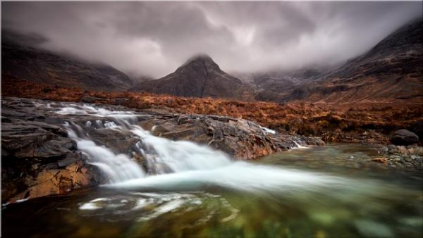 Fairy Pools Swirl - Canvas Print