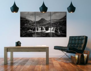 Showers Over Fairy Pools - 3 Panel Canvas on Wall
