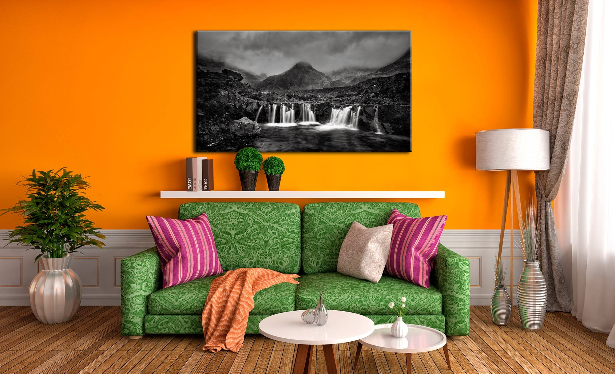 Showers Over Fairy Pools - Canvas Print on Wall
