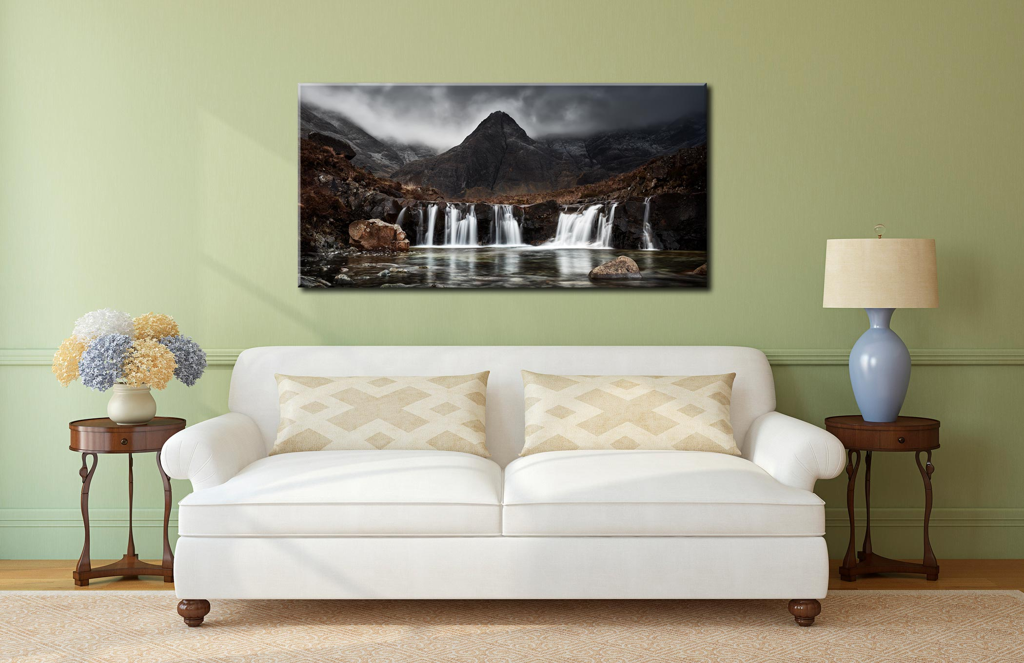 Fairy Pools Waterfall - Canvas Print on Wall