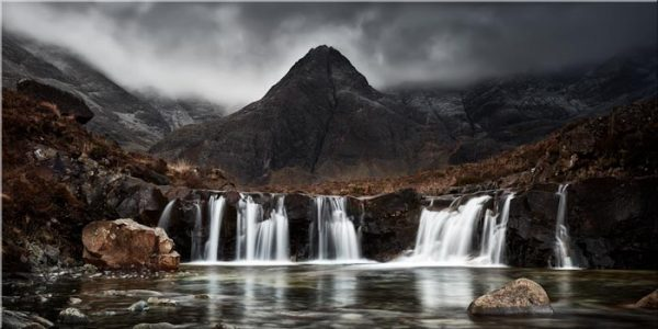 Fairy Pools Waterfall - Canvas Print