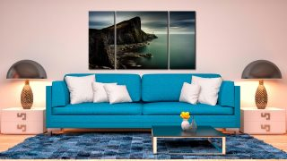 Neist Point Green - 3 Panel Canvas on Wall