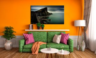 Neist Point Green - Canvas Print on Wall