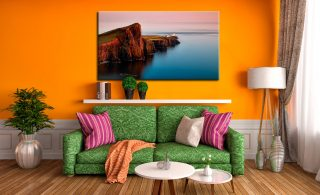 Calmness at Neist Point Lighthouse - Canvas Print on Wall