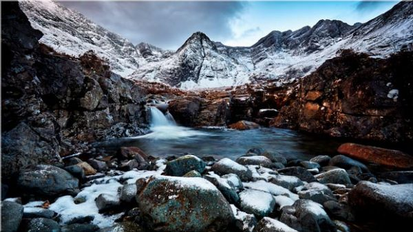 Spring Snow Fairy Pools - Canvas Print