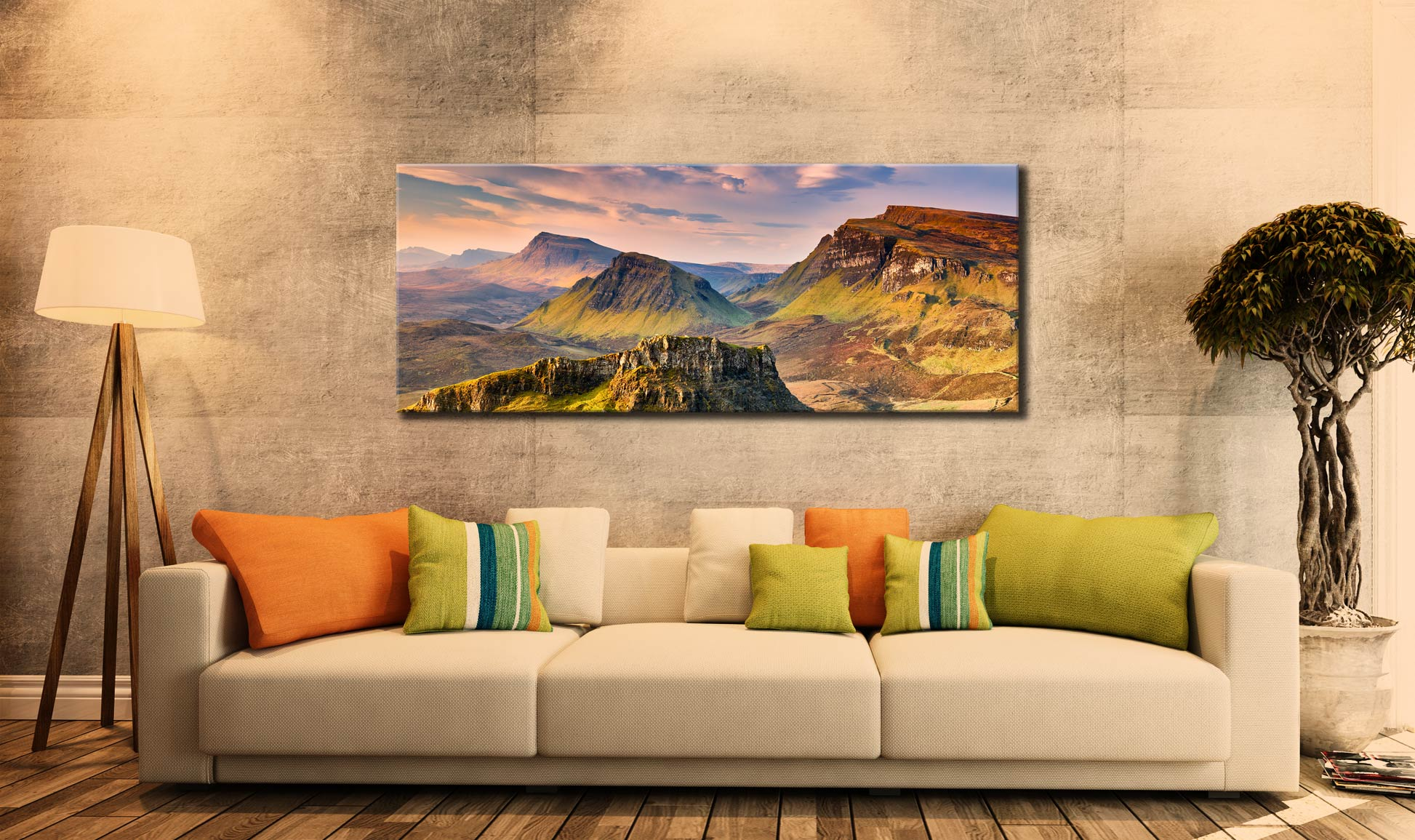 Trotternish Mountains Isle of Skye - Canvas Print on Wall