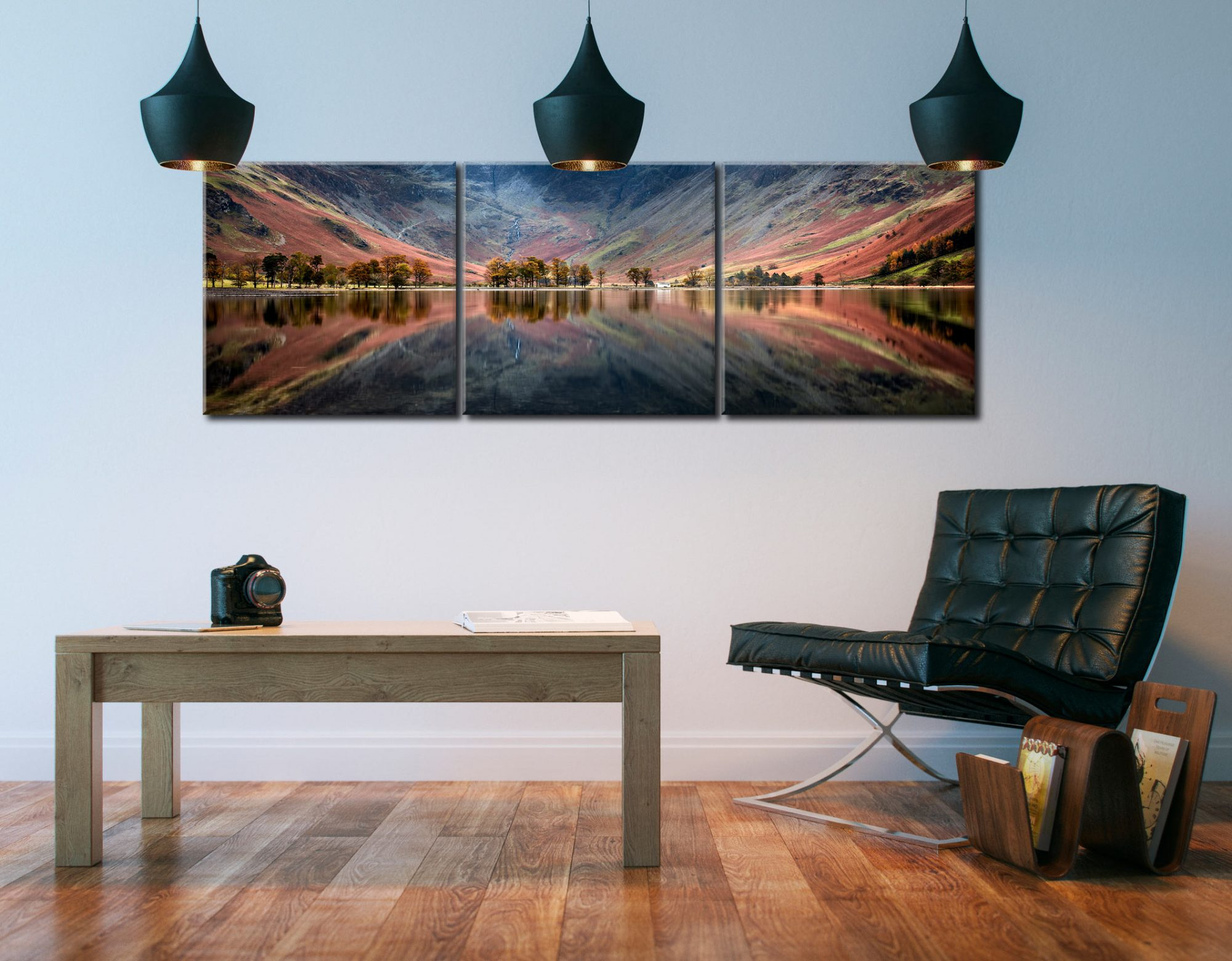 The Buttermere Bowl - 3 Panel Canvas on Wall