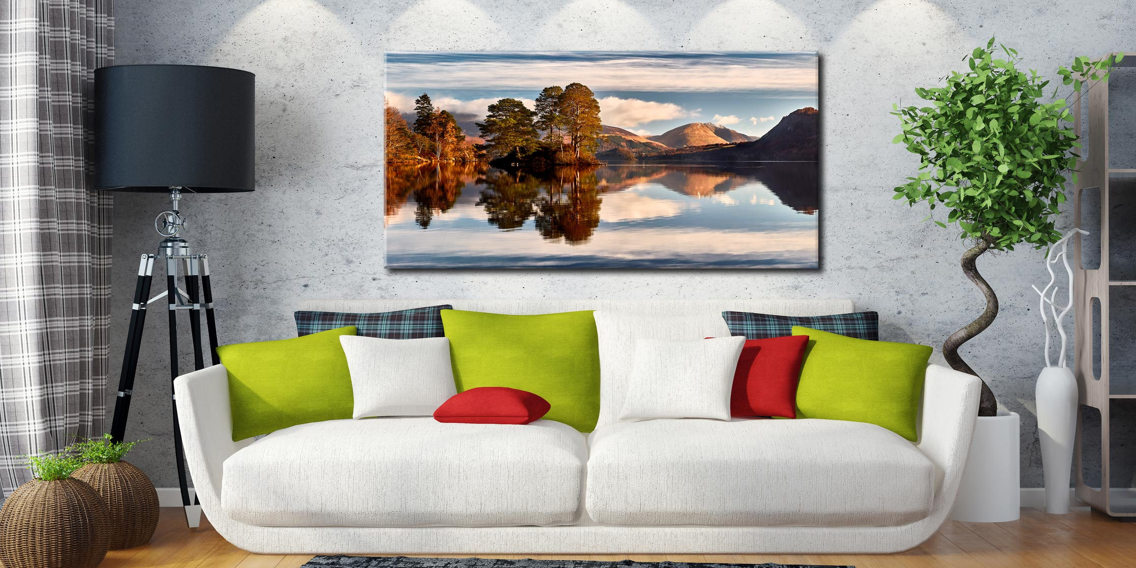 Otter Island in Derwent Water - Canvas Print on Wall