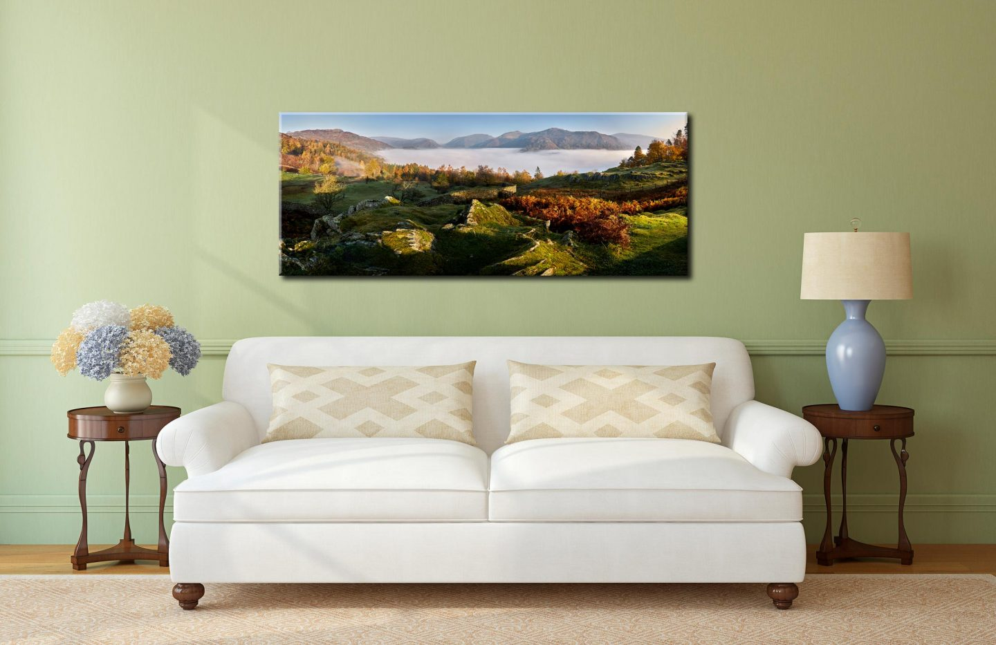 Cloud Inversion over Grasmere - Canvas Print on Wall