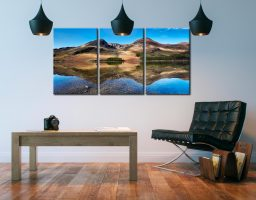 Twin Peaks at Buttermere - 3 Panel Canvas on Wall