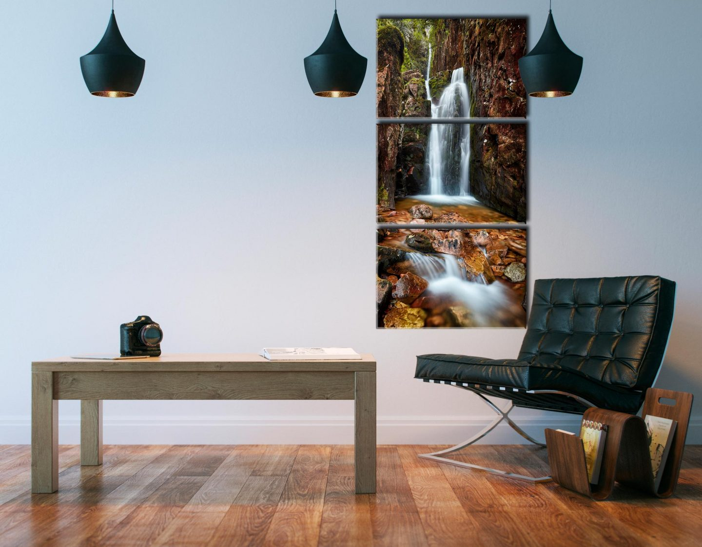 Scale Force Gorge - 3 Panel Canvas on Wall