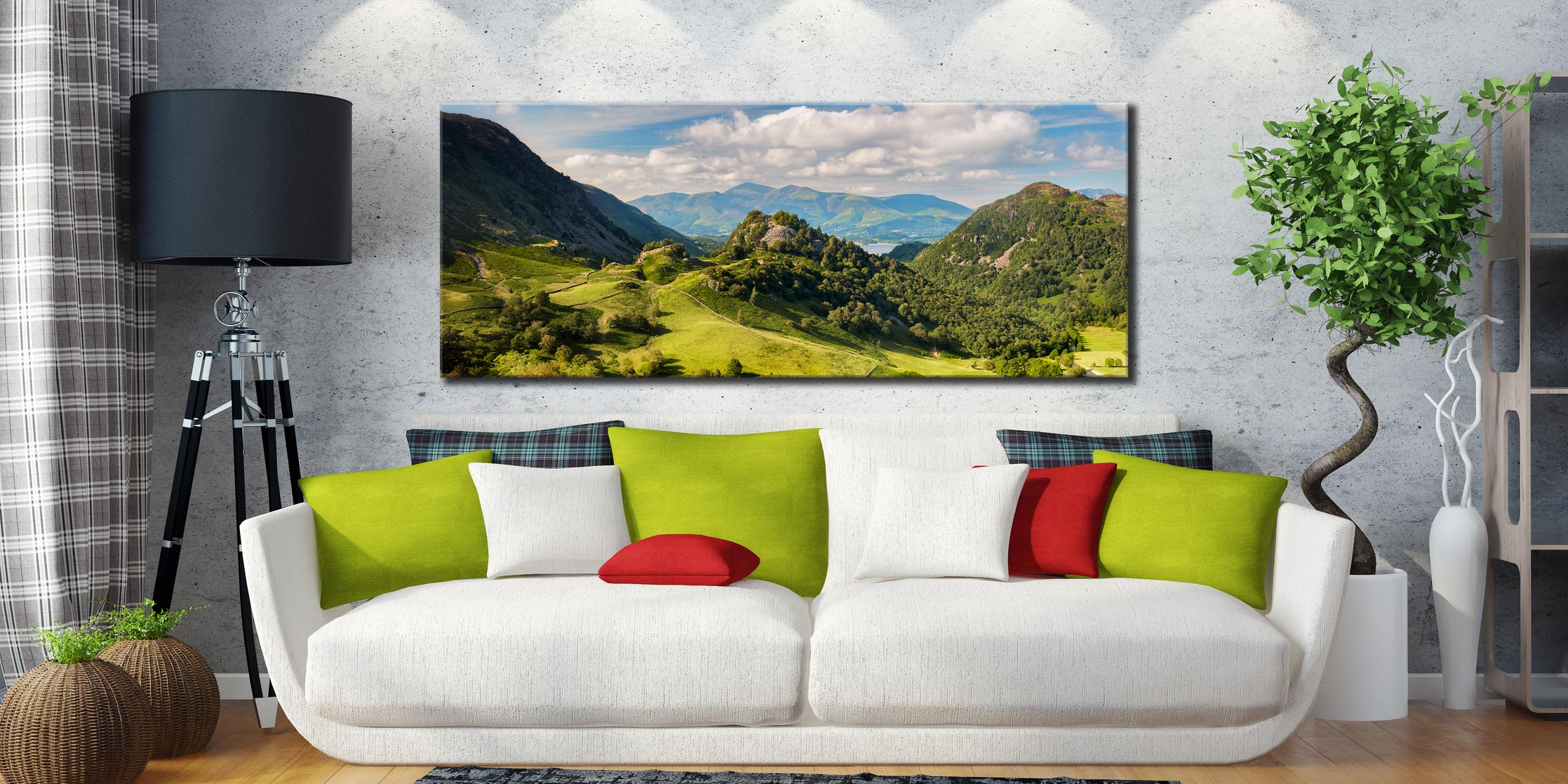 Castle Crag Summers Afternoon - Canvas Print on Wall
