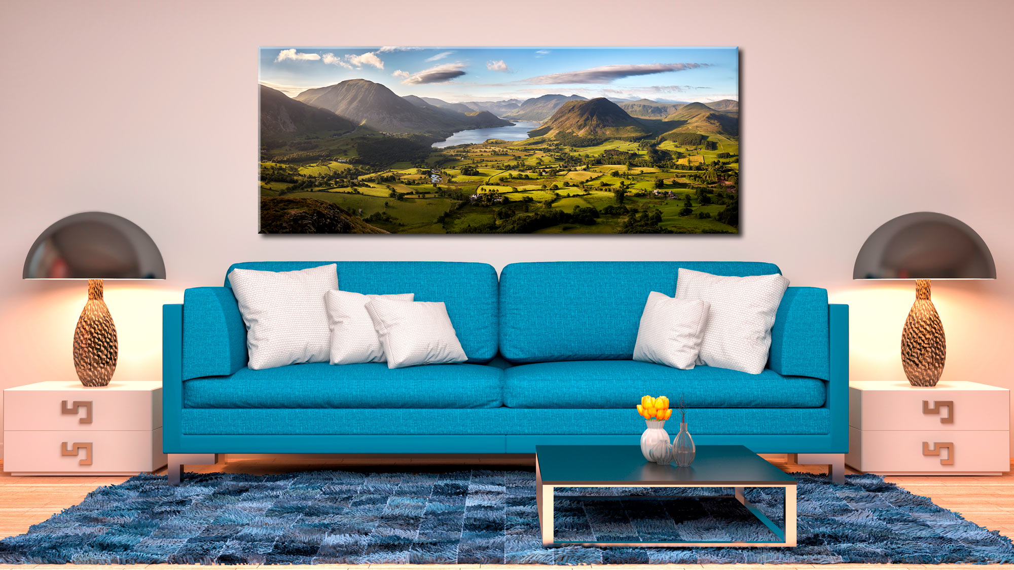 Loweswater Fell Vista - Canvas Print on Wall