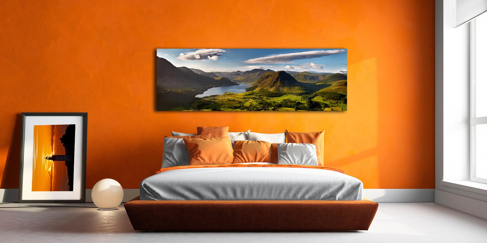 Morning Sunshine on Crummock Water - Canvas Prints Print on Wall