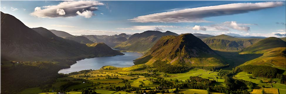 Morning Sunshine on Crummock Water - Canvas Prints Print