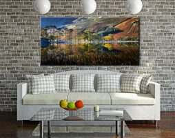 Buttermere Autumn Reflections - Canvas Print on Wall
