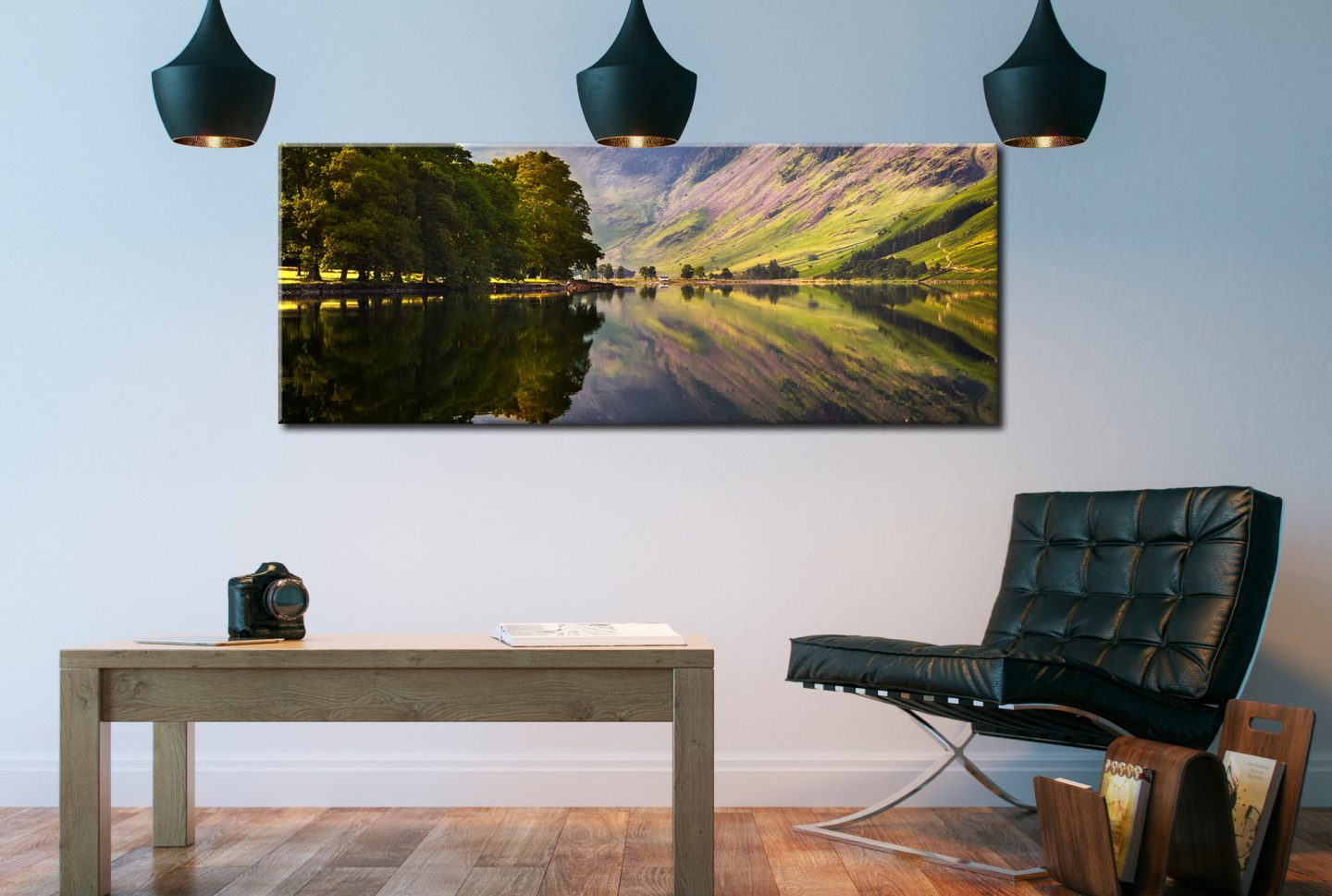 A Summers Day at Buttermere - Canvas Print on Wall