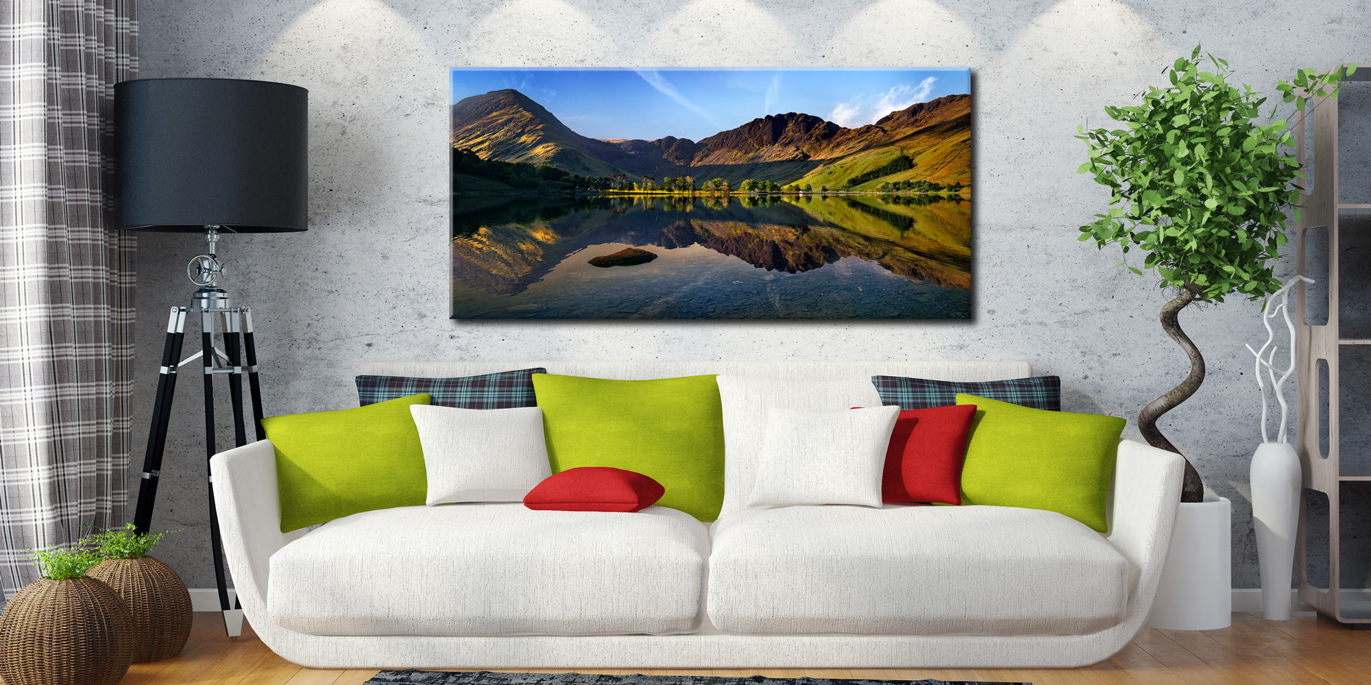 Stillness at Buttermere - Canvas Print on Wall