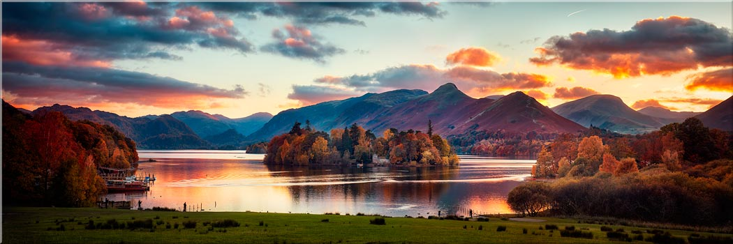 Derwent Water at Dusk - Canvas Prints Print