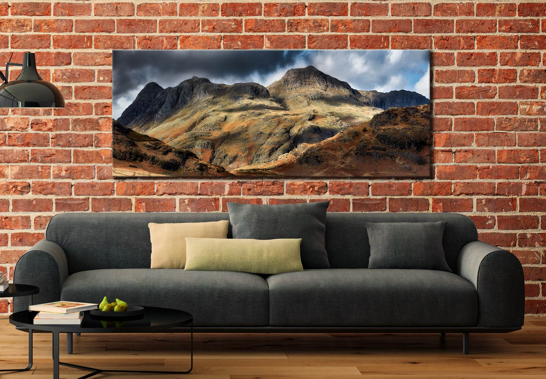 The Langdale Pikes - Canvas Print on Wall