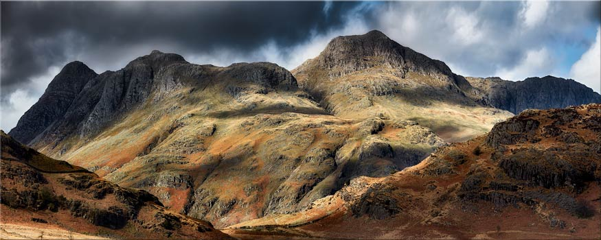 The Langdale Pikes - Canvas Print