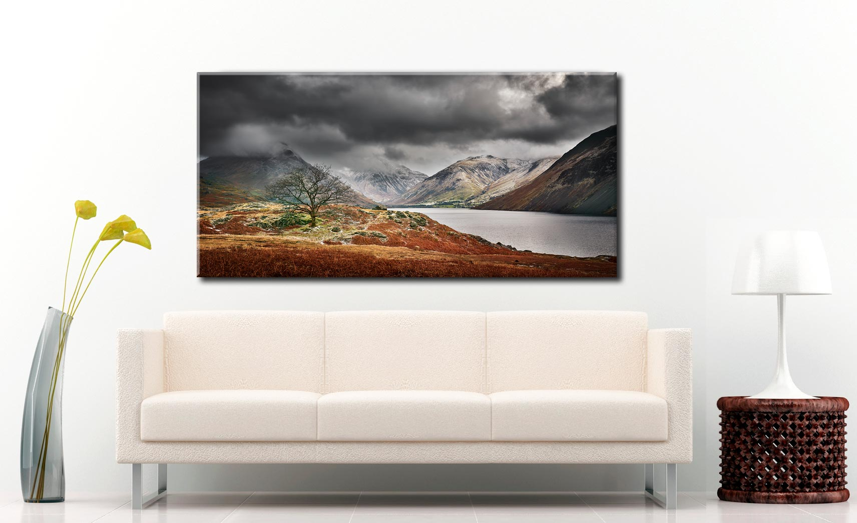 Winter Colours of Wast Water - Canvas Print on Wall