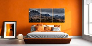 Scafell Mountains from Hardknott  - 3 Panel Canvas on Wall