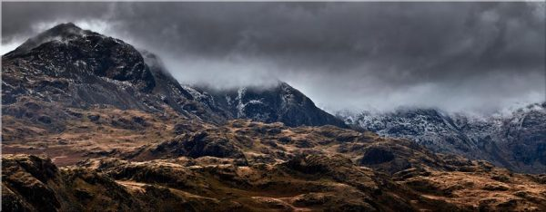 Scafell Mountains from Hardknott - Canvas Print