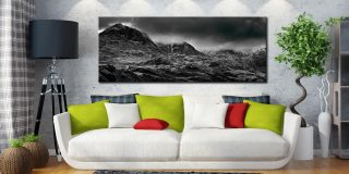 Scafell Mountains in Winter - Canvas Print on Wall