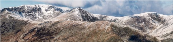 Helvellyn Mountains Panorama - Canvas Print
