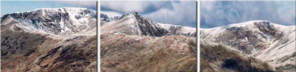 Helvellyn Mountains Panorama - Canvas Prints