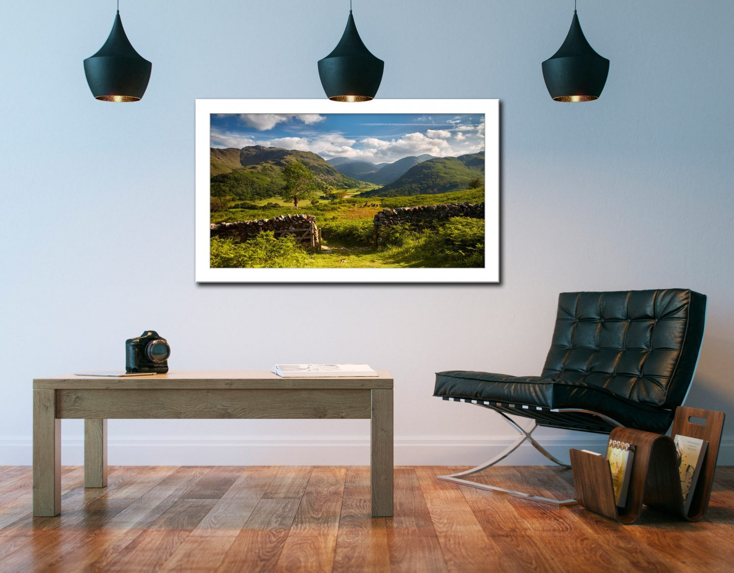 Green and Pleasant Land - Framed Print on Wall