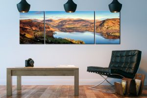 Morning Light on Ullswater - 3 Panel Canvas on Wall